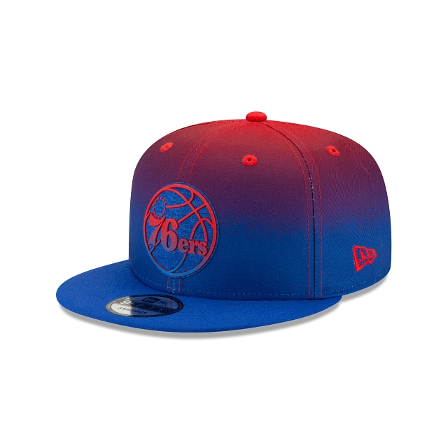 Philadelphia 76ers NBA Authentics: Back HaLF Edition Official Team Colours 9FIFTY Snapback | Philadelphia 76ers Hats | New Era Cap
