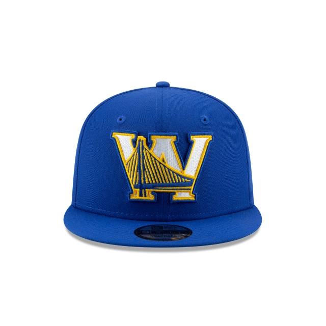 GOLDEN STATE WARRIORS NBA AUTHENTICS: BACK HALF SERIES OTC 9FIFTY SNAPBACK Front view