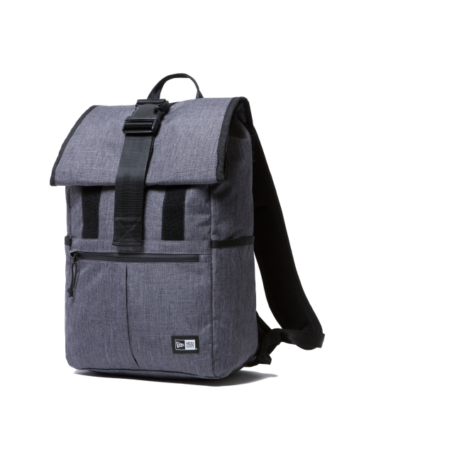 Roll Top Heather Grey Backpack | Delivery 2 Caps | New Era Cap