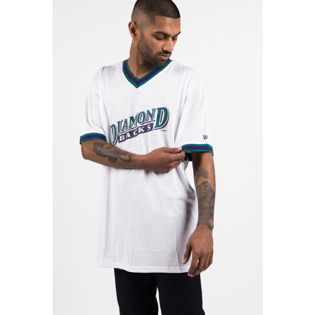 Arizona Diamondbacks White Mesh Baseball T-shirt | New Era Cap