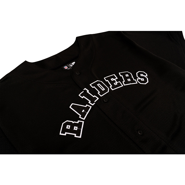 Las Vegas Raiders Mesh Black Button Up Tee | Las Vegas Raiders | New Era Cap