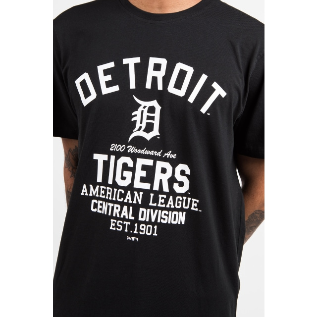 Detroit Tigers Black Americana T-shirt | Detroit Tigers Baseball Caps | New Era Cap
