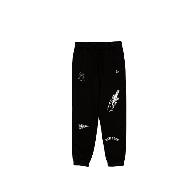 New York Yankees Black Scribble Track Pant | New York Yankees | New Era Cap