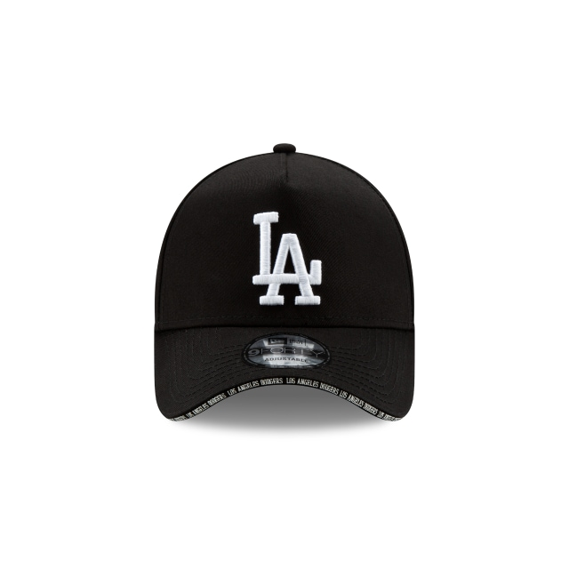 Los Angeles Dodgers Visor Script 9forty A-frame | Los Angeles Dodgers Baseball Caps | New Era Cap
