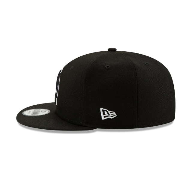 Brooklyn Nets Nba Authentics Back Half Series Black 9fifty Snapback | Brooklyn Nets Basketball Caps | New Era Cap