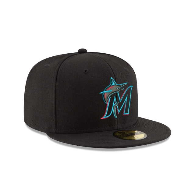 sports shoes 1f8bd 9bfad Miami Marlins Authentic Collection 59fifty Fitted   Miami Marlins Baseball  Caps   New Era Cap