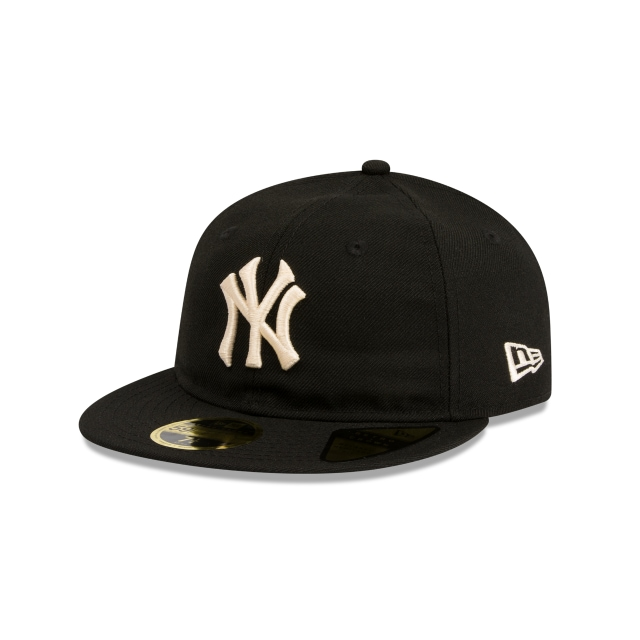 quality design abfee 16450 New York Yankees Cooperstown Black Retro Crown 59fifty Fitted   New Era Cap