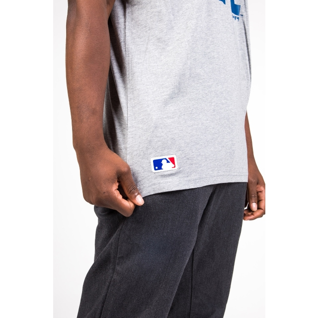 Los Angeles Dodgers Team Essential Grey Heather Tee | Los Angeles Dodgers Baseball Caps | New Era Cap