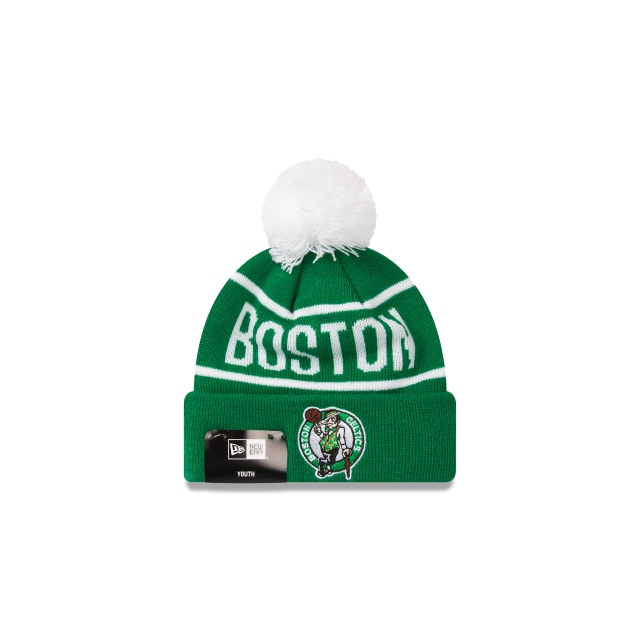 Boston Celtics Original Team Colour Youth Pom Pom Beanie | New Era Cap
