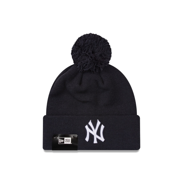 New York Yankees Navy White Pom Pom Beanie | New York Yankees Hats | New Era Cap