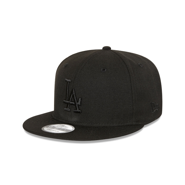 Los Angeles Dodgers Black On Black 9fifty Snapback | New Era Cap