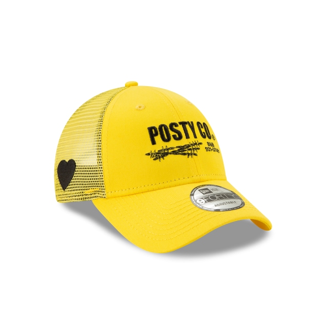Post Malone Posty Co. Yellow 9forty Trucker | Action Marketing Caps | New Era Cap