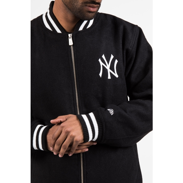 New York Yankees Black Varsity Jacket | New York Yankees | New Era Cap