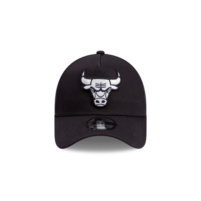 Chicago Bulls Navy Grey 9forty A-frame | Chicago Bulls Basketball Caps | New Era Cap