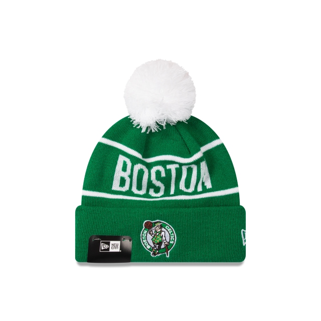 Boston Celtics Original Team Colours Pom Pom Knit | Boston Celtics Basketball Caps | New Era Cap