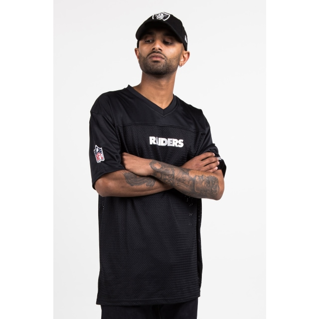 Oakland Raiders Black Mesh T-shirt | New Era Cap
