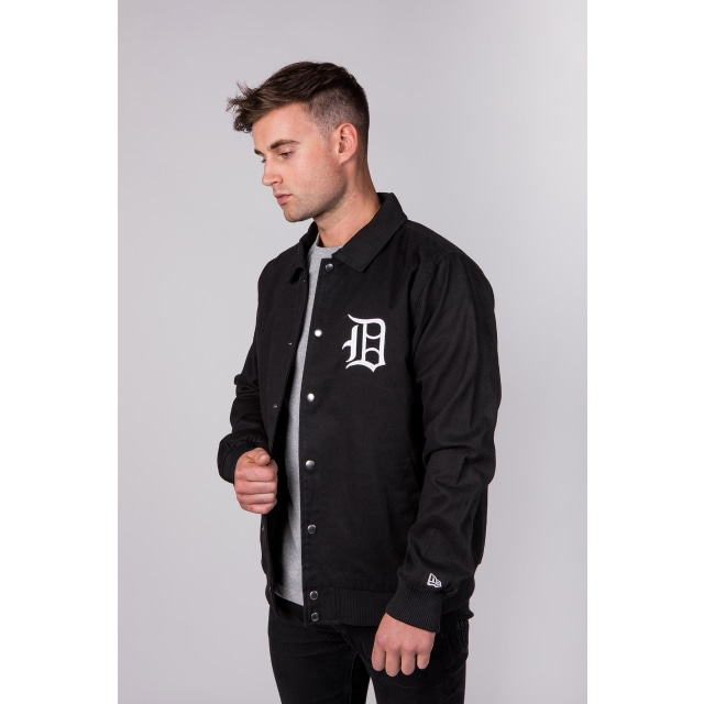 Detroit Tigers Cooperstown Black Varsity Jacket | New Era Cap