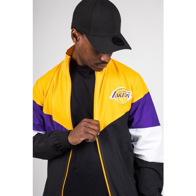 Los Angeles Lakers Retro Colour Block Track Jacket | New Era Cap