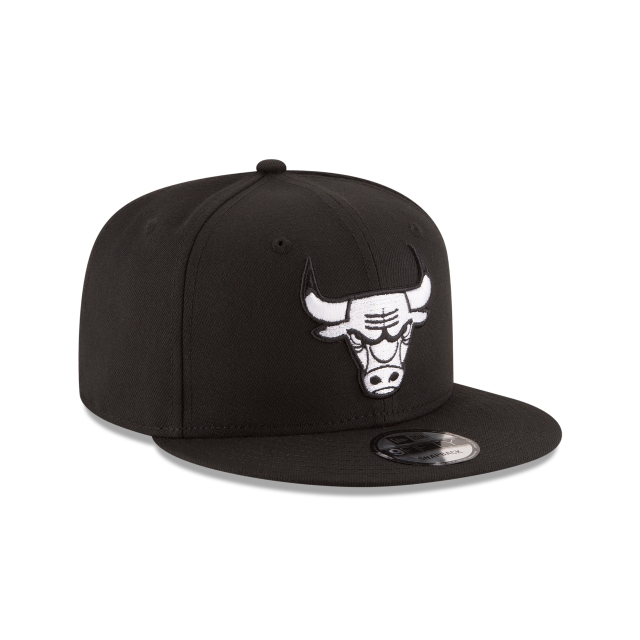 Chicago Bulls Black 9fifty | Chicago Bulls Basketball Caps | New Era Cap