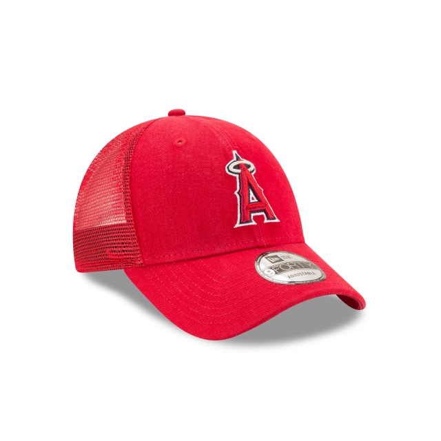 Los Angeles Angels Scarlet 9forty Trucker | Los Angeles Angels Baseball Caps | New Era Cap
