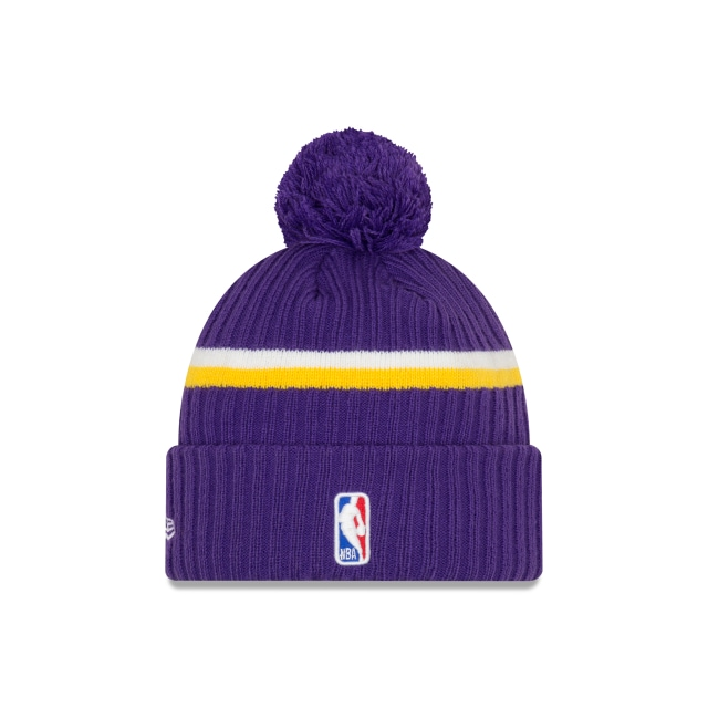 Los Angeles Lakers Nba Authentics Draft Series Beanie | Los Angeles Lakers Basketball Caps | New Era Cap