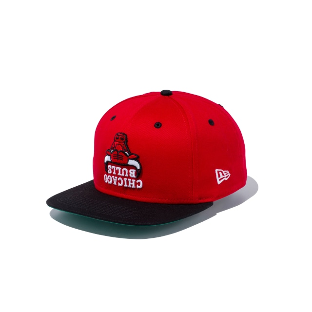 Chicago Bulls Upside Down Scarlet 9FIFTY Snapback | Chicago Bulls Hats | New Era Cap