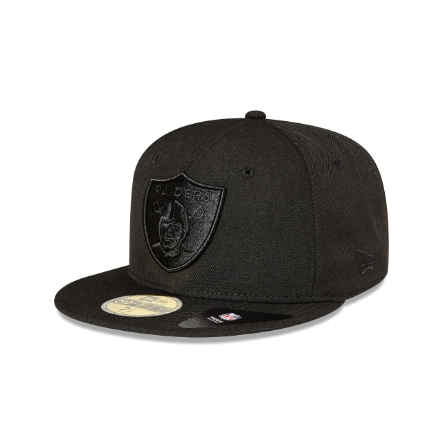 Oakland Raiders Black On Black 59fifty Fitted | Oakland Raiders Football Caps | New Era Cap