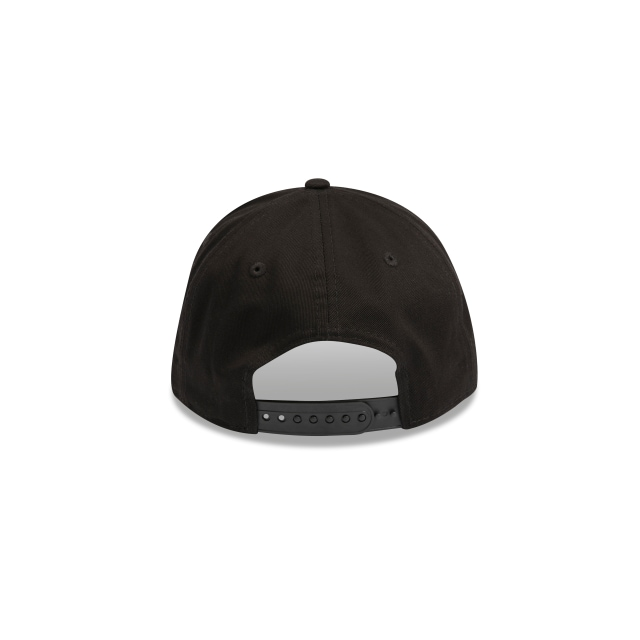 Oakland Raiders Black On Black 9forty A-frame | Oakland Raiders Football Caps | New Era Cap