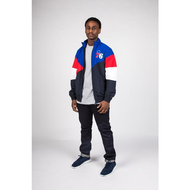 Philadelphia 76ers Retro Colour Block Track Jacket | Philadelphia 76ers | New Era Cap