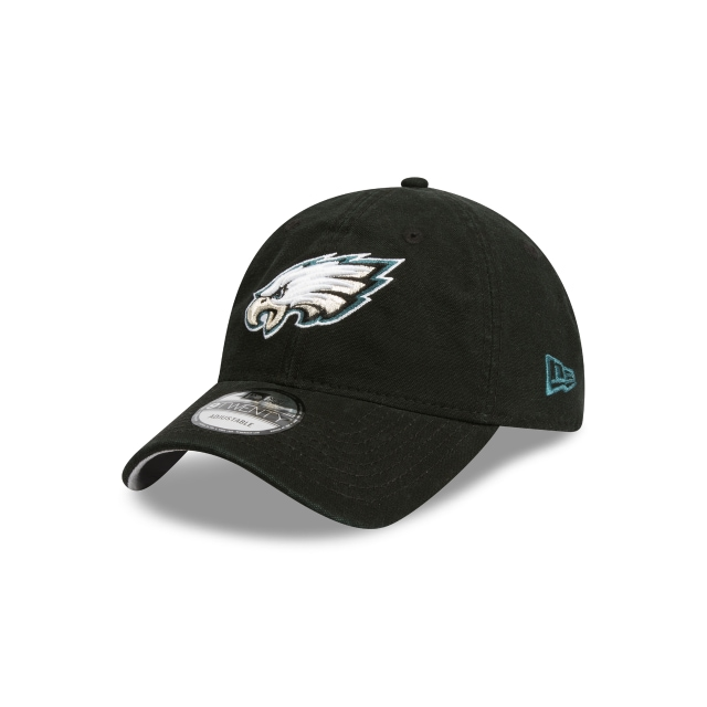 Philadelphia Eagles Washed Black Canvas 9twenty | Philadelphia Eagles Football Caps | New Era Cap