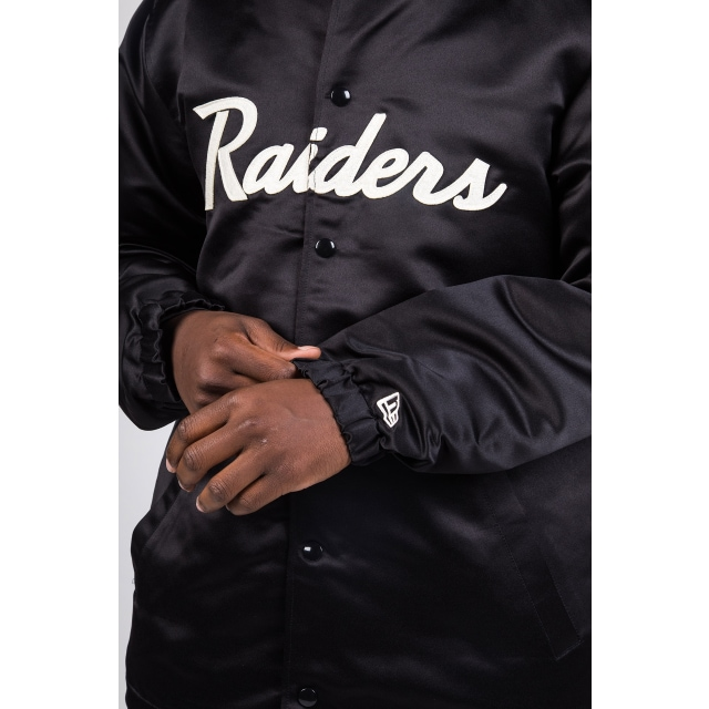 Las Vegas Raiders Sateen Black Coaches Jacket | Las Vegas Raiders | New Era Cap