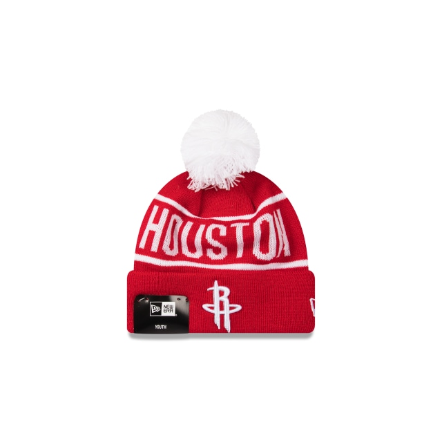 Houston Rockets Original Team Colour Youth Pom Pom Beanie | New Era Cap