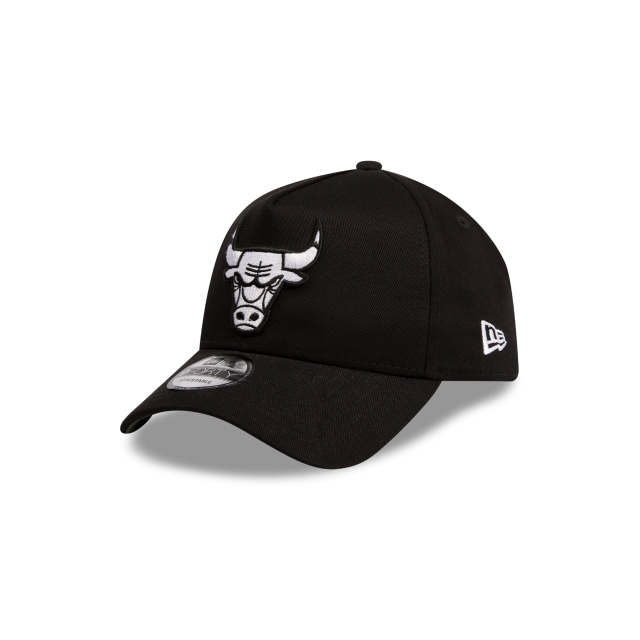 Chicago Bulls Black Green 9forty A-frame | Chicago Bulls Basketball Caps | New Era Cap