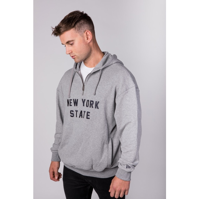 New Era New York State Light Grey Heather Hoodie | New Era Branded | New Era Cap