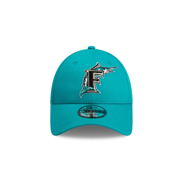 Florida Marlins Cooperstown Logo Teal 9forty | Miami Marlins Baseball Caps | New Era Cap