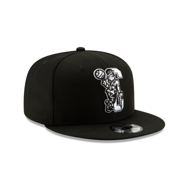 Boston Celtics Nba Authentics Back Half Series Black 9fifty Snapback | Boston Celtics Basketball Caps | New Era Cap
