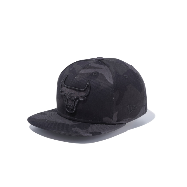 Chicago Bulls Black Camo 9fifty Snapback | Chicago Bulls Basketball Caps | New Era Cap