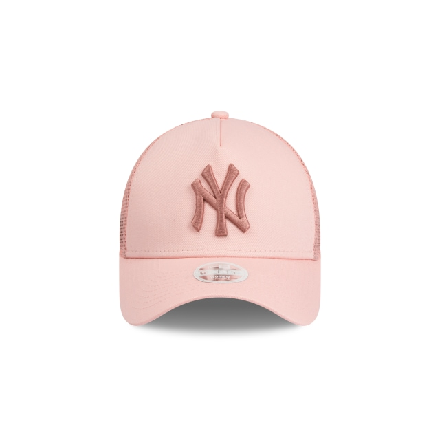 New York Yankees Pink Womens 9forty A-frame Trucker | New York Yankees Baseball Caps | New Era Cap