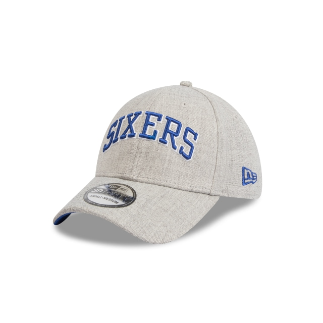 6d1593df9da942 Philadelphia 76ers Heather Grey Script 39thirty | Philadelphia 76ers  Basketball Caps | New Era Cap