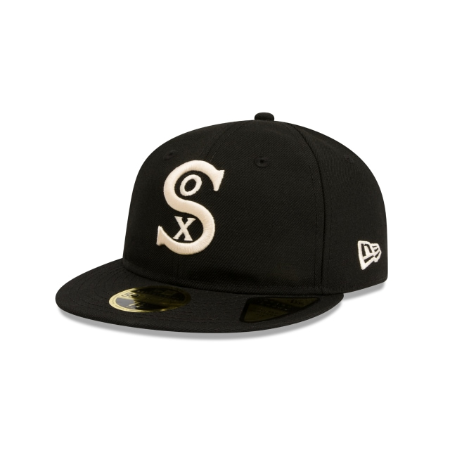 new style 88611 98d06 Chicago White Sox Cooperstown Black Retro Crown 59fifty Fitted   New Era Cap