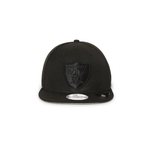 Oakland Raiders Black On Black 9fifty Snapback | Oakland Raiders Football Caps | New Era Cap