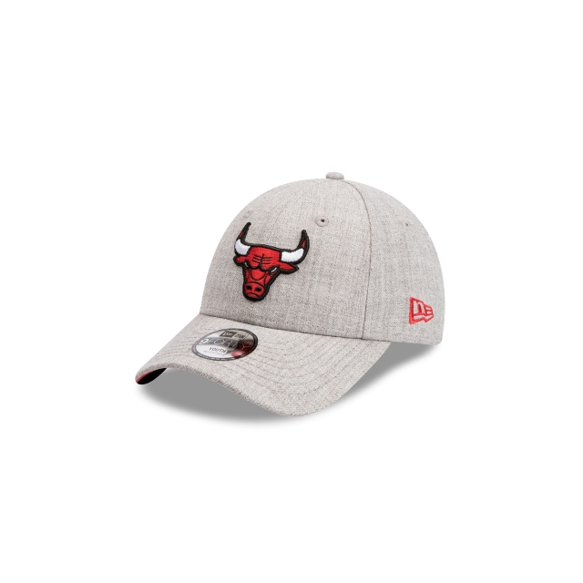Chicago Bulls Heather Grey Youth 9forty | New Era Cap
