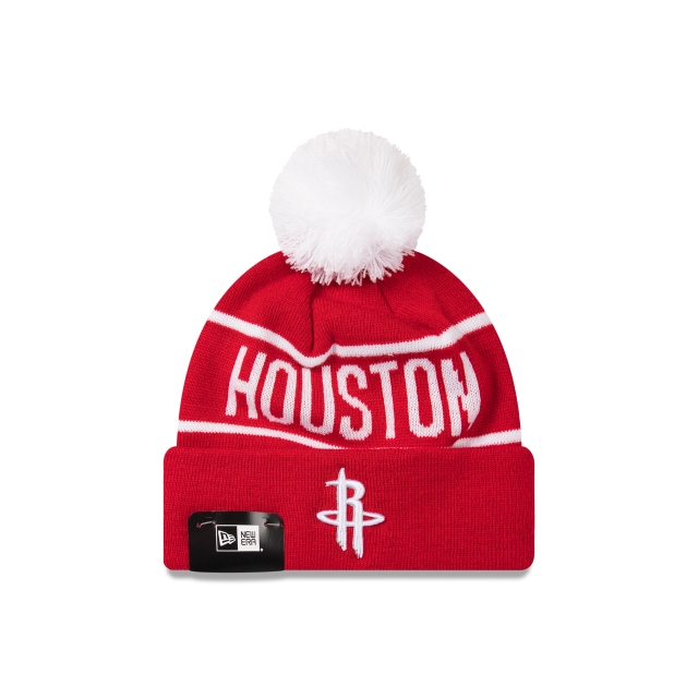 Houston Rockets Original Team Colours Pom Pom Knit | New Era Cap