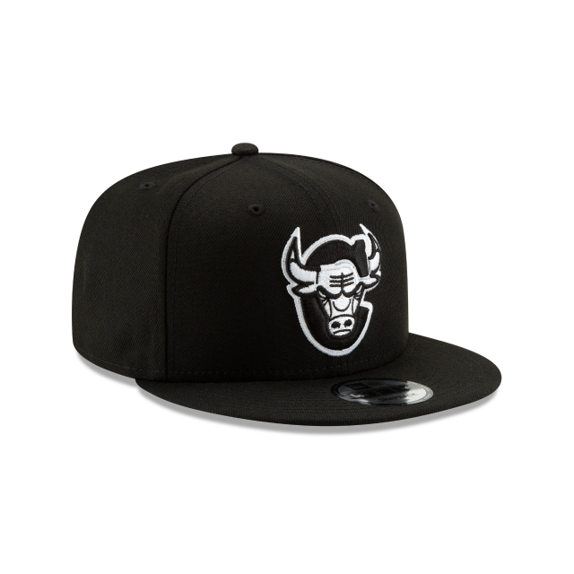 Chicago Bulls Nba Authentics Back Half Series Black 9fifty Snapback | Chicago Bulls Basketball Caps | New Era Cap