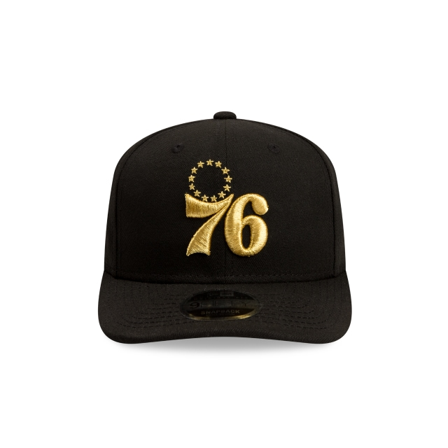 Philadelphia 76ers Black Gold 9FIFTY Original Fit | Philadelphia 76ers Hats | New Era Cap