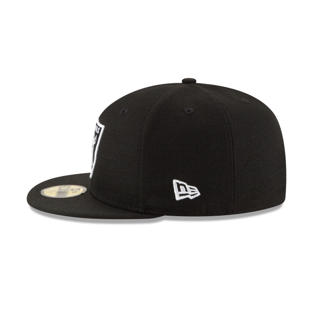 Oakland Raiders Black White 59fifty Fitted | Oakland Raiders Football Caps | New Era Cap