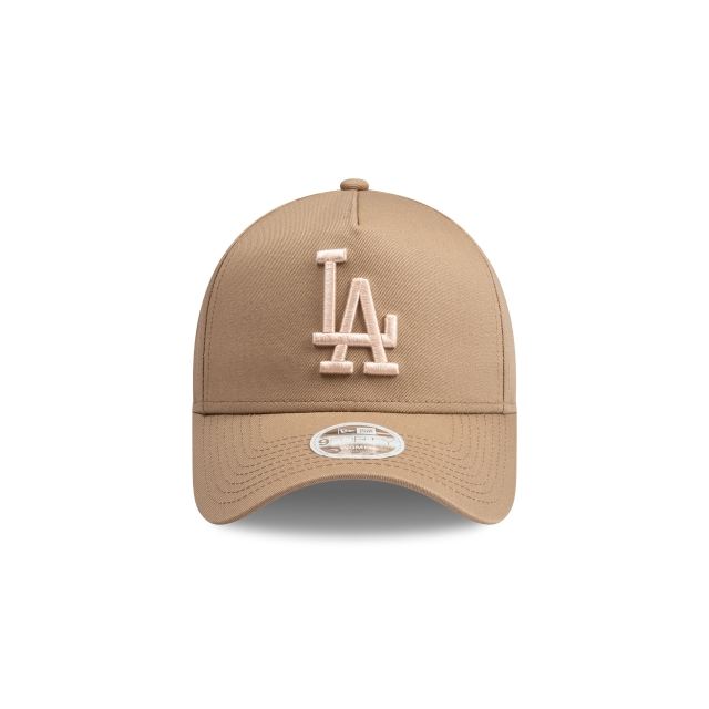 Los Angeles Dodgers Beige And Peach Womens 9FORTY A-frame | New Era Cap