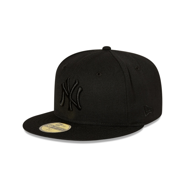 New York Yankees Black On Black 59fifty Fitted | New Era Cap