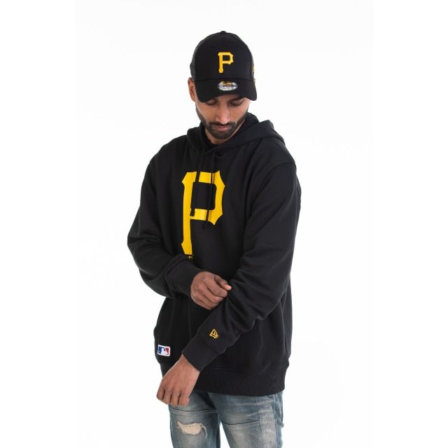 Pittsburgh Pirates Team Essential Pull Over Black Hoodie | Pittsburgh Pirates Baseball Caps | New Era Cap