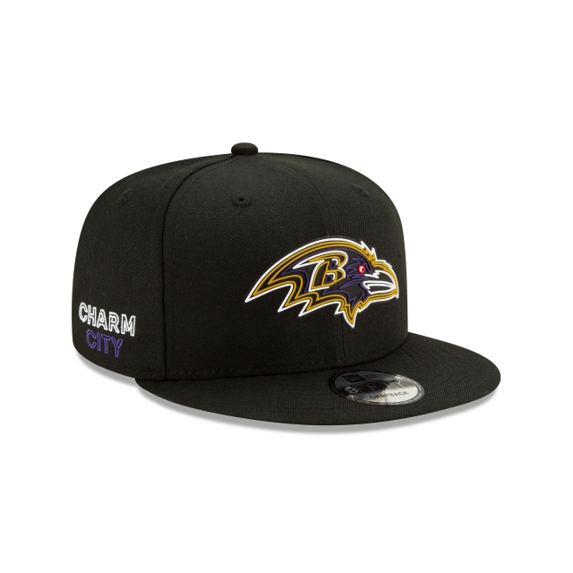 Baltimore Ravens Official NFL Draft 9FIFTY Snapback | Baltimore Ravens Hats | New Era Cap